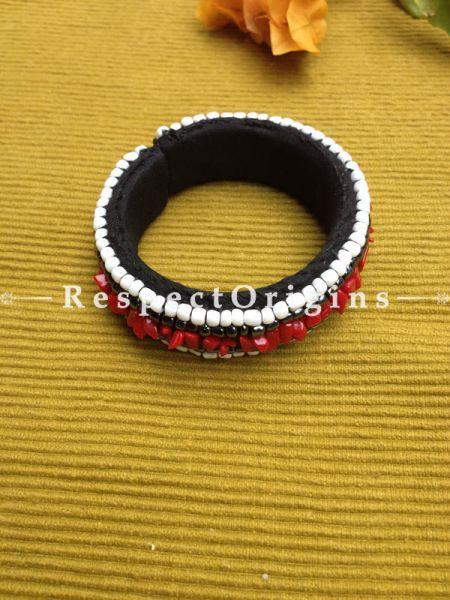 Buy Red & White Beads; Handemade Ladhaki Beaded Bracelet for Women and Girls At RespectOrigins.com