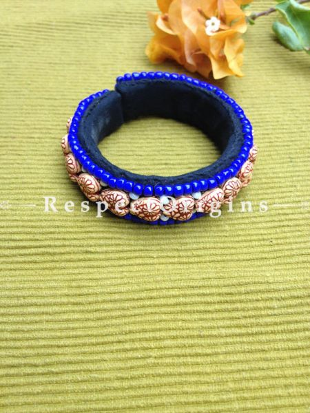 Buy Blue Beads; Handemade Ladhaki Beaded Bracelet for Women and Girls At RespectOrigins.com