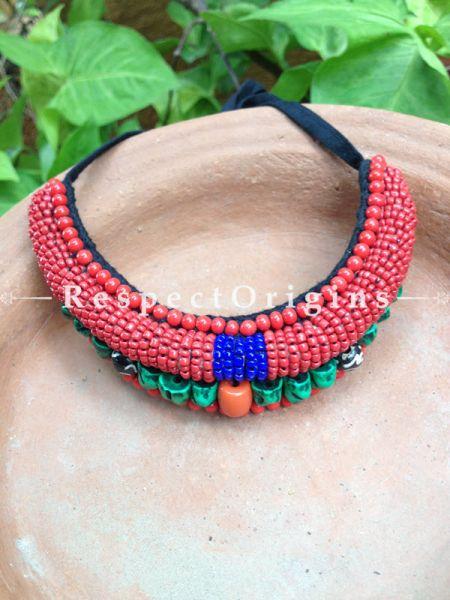 Buy Red Beads; Ladhaki Necklace; Beaded Chocker At RespectOrigins.com