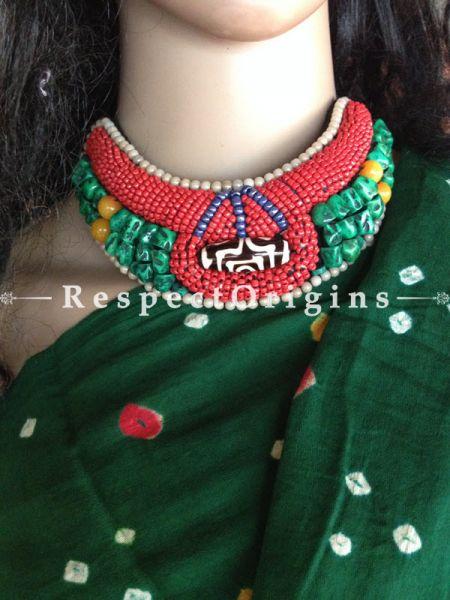 Buy Green & Red Beads; Ladhaki Necklace; Beaded Chocker At RespectOrigins.com