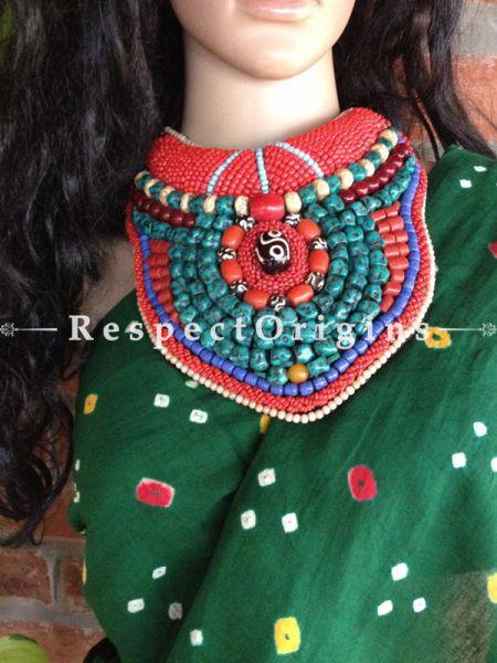 Buy Ladakhi Beaded Chocker;Multicolor ;Handmade Necklace for Women at Respectorigins.com