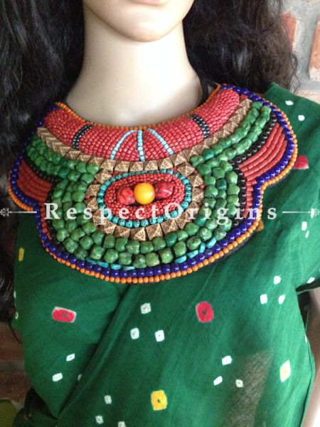 Buy Ladakhi Beaded Chocker or Necklace; Red,Green, Blue and Black;Handmade Necklace for Women at Respectorigins.com
