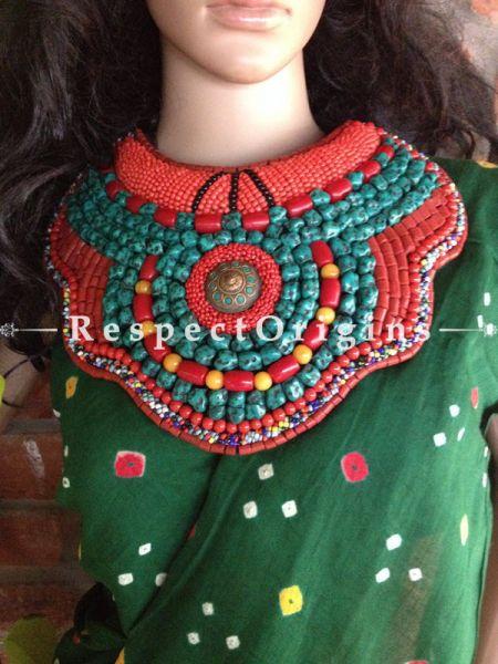 Buy Blue, Black & Red Beads; Ladhaki Necklace; Beaded Chocker At RespectOrigins.com