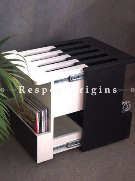 Buy Extendable Wooden Coffee Table With Side Storage At RespectOrigins.com