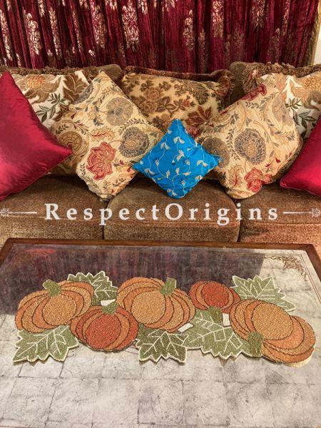 Gaia Floral Beadwork Table Dresser Runner Mat Gift; RespectOrigins.com