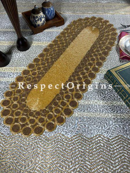 Diana Formal Beadwork Table Dresser Runner Mat Gift; RespectOrigins.com