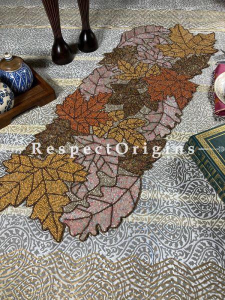 Elegant Florals Beadwork Table Dresser Runner Mat Gift; RespectOrigins.com
