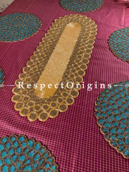 Sophia Formal Beadwork Table Runner n 6 Mats Gift Set; RespectOrigins.com