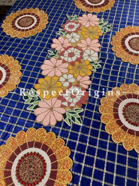 Emelia Happiness Beadwork Table Runner n 6 Mats Gift Set; RespectOrigins.com