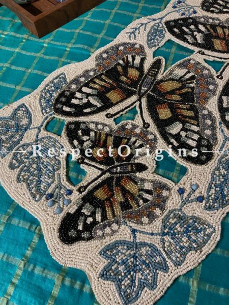 Celia Luxury Beadwork Table Runner Dresser Gift Mat; RespectOrigins.com