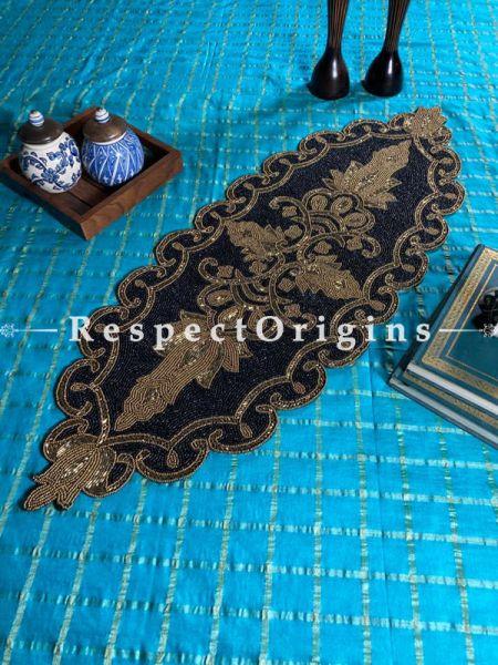 Ragini Celebrations Medallion Beadwork Table Dresser Runner Mat Gift; RespectOrigins.com