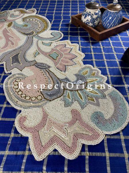 Luxurious Beadwork Table Dresser Runner Mat Gift; RespectOrigins.com