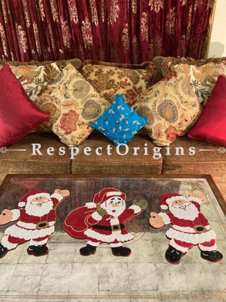 Ho! Ho! Ho! Santa n Sack Christmas Beaded Table Place Mat or Wall Decor Gift; RespectOrigins.com