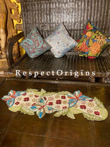 Exquisite Beadwork Table Dresser Runner Mat Gift; RespectOrigins.com