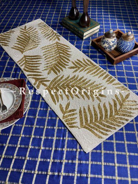 Marianne Festive Glamorous Beadwork Table Dresser Runner Mat Gift; RespectOrigins.com