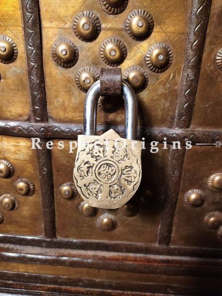 Buy Vintage Finish Brass Handcrafted Shiva Lock And Key Set at RespectOrigins