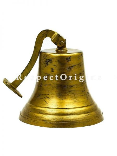 Buy 11 Inches Shipwrecked Classic Nautical Decor Boat Bell With Antique Finish Antique Brushed Brass Bell At RespectOrigins.com