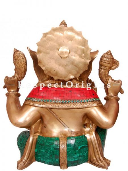 Buy Colorful Handcrafted Lord Ganesha Brass Statue 20 Inches at RespectOrigins.com