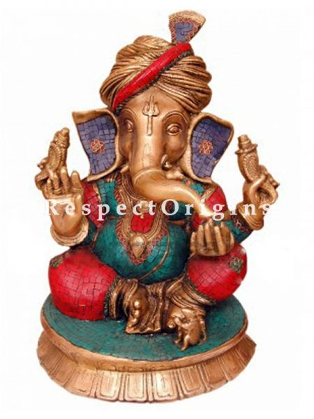 Buy Multicolored Exclusive Lord Ganesha Brass Statue 22 Inches at RespectOrigins.com