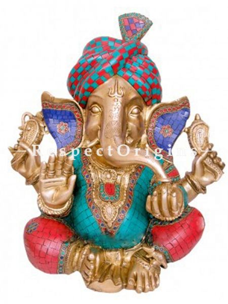 Buy Handcrafted Lord Ganesha Brass Statue 14 Inches at RespectOrigins.com