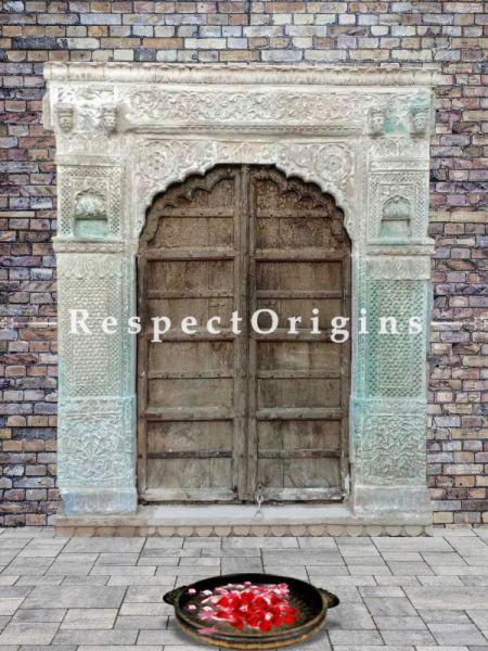Buy Antique Haweli Stone Baradari Door Frame with Wooden Door; RespectOrigins. com