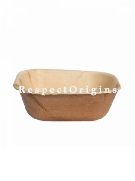 Buy Pack of 25 Arecana Eco Friendly Square Bowl, Disposable, 5 inches; RespectOrigins