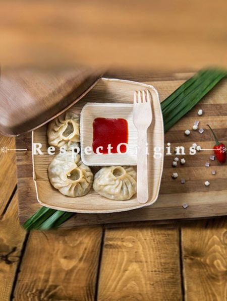 Buy Pack of 25 Arecana Eco Friendly Snacks Plates