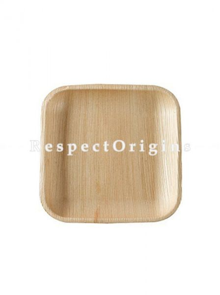 Buy Pack of 25 Arecana Eco Friendly Square Snacks Plates