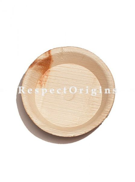 Buy Pack of 25 Arecana Eco Friendly Round Snacks Plates