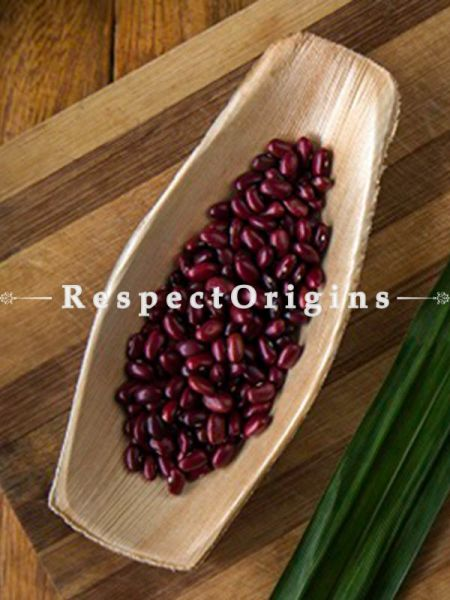 Buy Pack of 25 Arecana Eco Friendly Oval Serving Tray, Disposable, 3x7 inches; RespectOrigins