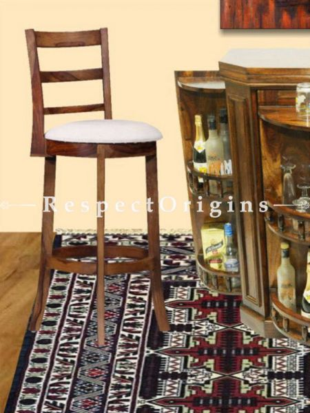Buy Arianne High Wooden Upholstered Bar Stool  At RespectOrigins.com