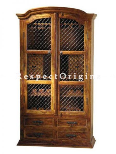 Buy Arthur Two Door Vintage China Cabinet or Bookshelf with 2 Drawers. At RespectOrigins.com