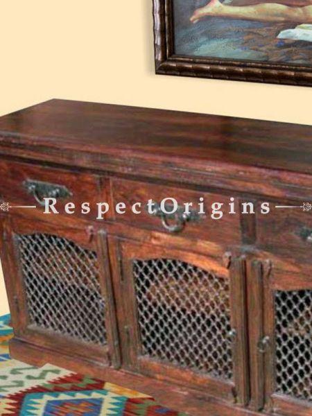 Buy Arthur Vintage Dresser or Sideboard with Iron Latticework At RespectOrigins.com