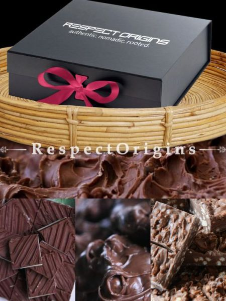 Gift Pack of Chilly Ooty Artisanal Chocolates 250 Gms; 2 in 1 Ooty Artisanal Chocolates 250 Gms; Butter Scotch Ooty Artisanal Chocolates 250 Gms; Nut Crunch Ooty Artisanal Chocolates 250 Gms; RespectOrigins.com