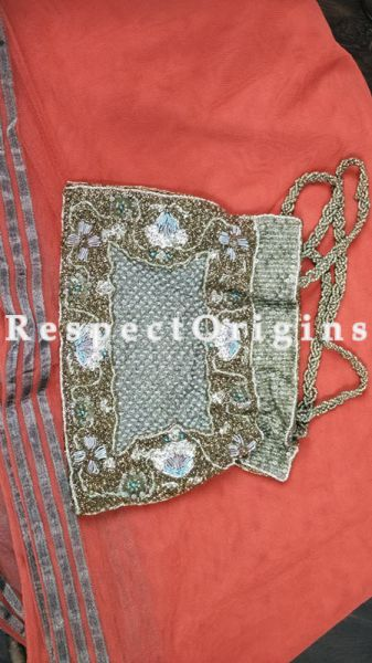 Buy Silk Clutch; Beige & Gold at RespectOrigins.com