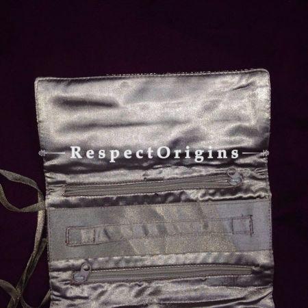 Buy Satin Silk Jewellery Pouch; Lavender at RespectOrigins.com