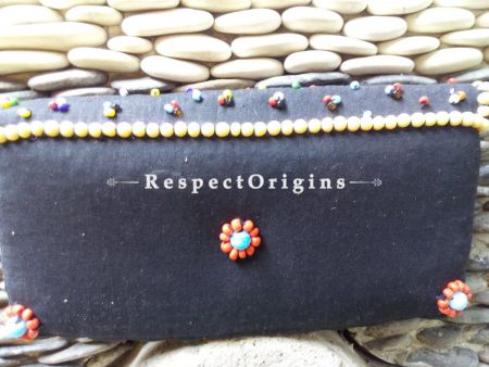 Buy Beaded Ladakhi Clutch; Red & Black at RespectOrigins.com