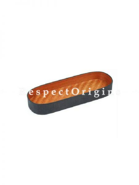 Bamboo Matte Finish Wooden Oval Serving Tray; 3 x 9; RespectOrigins.com