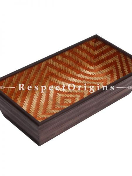 Bamboo Matte Finish Wooden Rectangle Bread Basket; 6 x 11; RespectOrigins.com