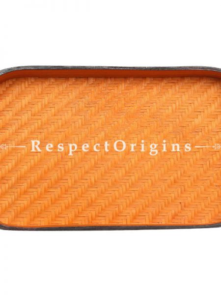 Bamboo Matte Finish Wooden Rectangle Serving Tray; 7 x 10; RespectOrigins.com