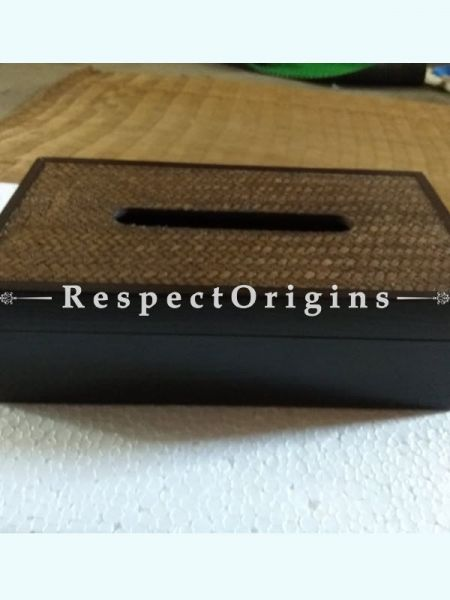 Bamboo Matte Finish Wooden Tissue Holder; 6 x 11; RespectOrigins.com