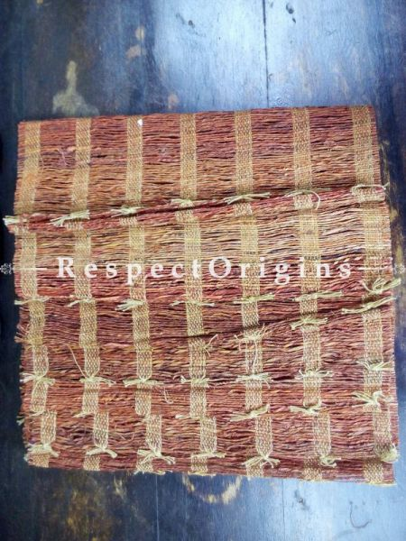Handmade Eco-friendly Banana Fibre Natural Color Table Mat Set of 6; RespectOrigins.com