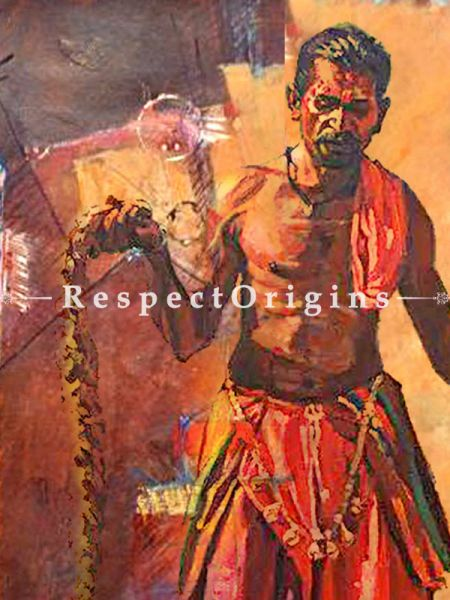 Banjara Painting - 32 In x 32 In;Oil Canvas; Painting