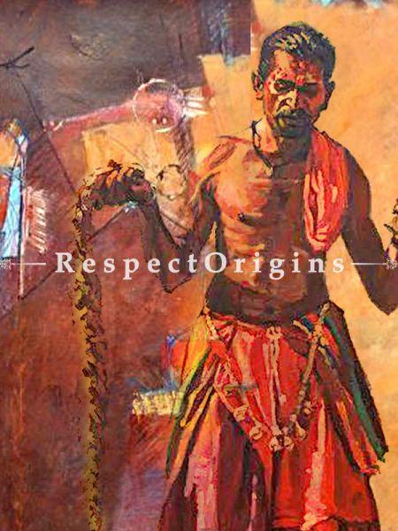 Handmade Painting of Banjara Made of Oil on Canvas   Buy Painting of Banjara Made of Oil on Canvas   Online RespectOrigins