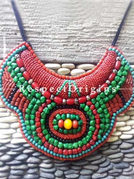 Buy Multicolored Beads; Ladhaki Necklace; Beaded Chocker at RespectOrigins.com