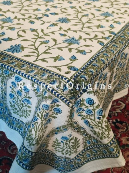 Buy Soft n Comfy White Pure Cotton Block-printed Jaypuri Dohar Comforter Quilt with Piping at RespectOrigins.com