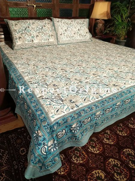 The Happiness Collection! Pure Cotton Bedspreads;105x85 Inches with two Pillow Cases; 28x20 Inches.