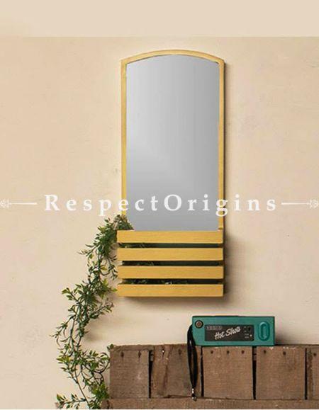 Buy Beige Plywood Shelf Mirror At RespectOrigins.com
