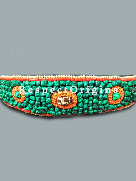 Buy Traditional Ladakhi Vintage Pendant Green Beaded Belt at RespectOrigins.com