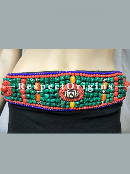 Buy Traditional Ladakhi Vintage Pendant Beaded Belt at RespectOrigins.com